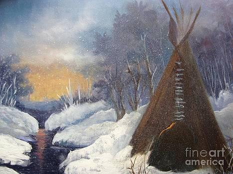 SnowFall and TeePee by Barbara Haviland