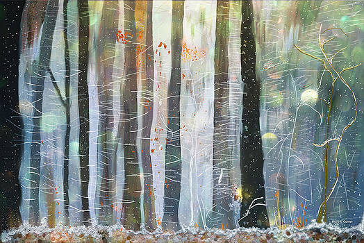 Snowing in the Ice Forest by Angela Stanton