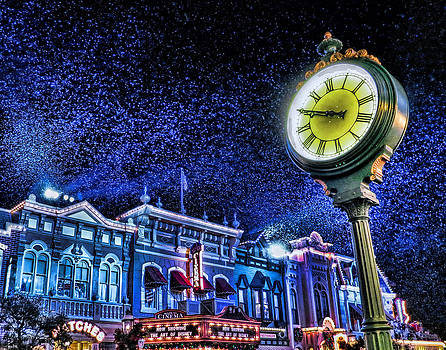 Snowing on Main Street by Nora Martinez