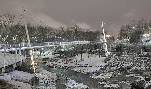 Snowladen by the Bridge by Josh Blaha