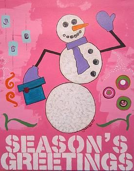 Snowman 2013 by Christal Kaple Art