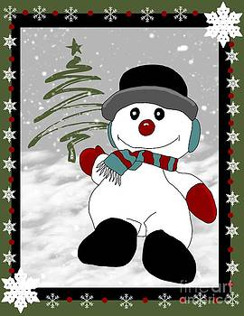 Snowman Christmas 2 by Karen Sheltrown