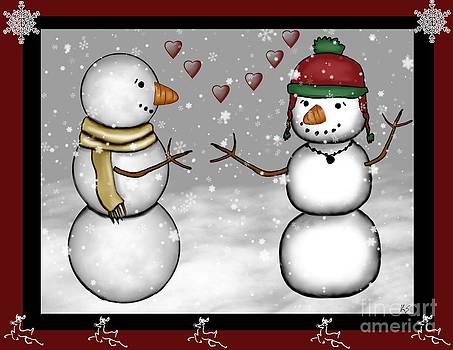 Snowman Christmas 4 by Karen Sheltrown