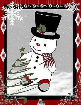 Snowman Christmas1 by Karen Sheltrown