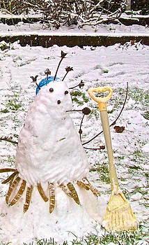 Snowpod Lady by Linda Zolten Wood