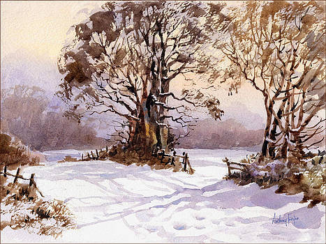 Anthony Forster - Snowscape with trees