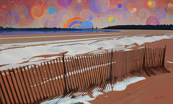 Snowy beach by David Klaboe