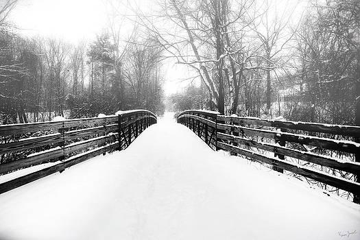 Snowy Bridge by Karen Varnas