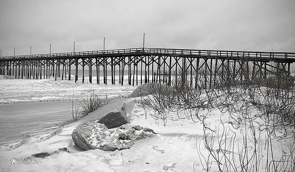Snowy Day At The Beach by Phil Mancuso