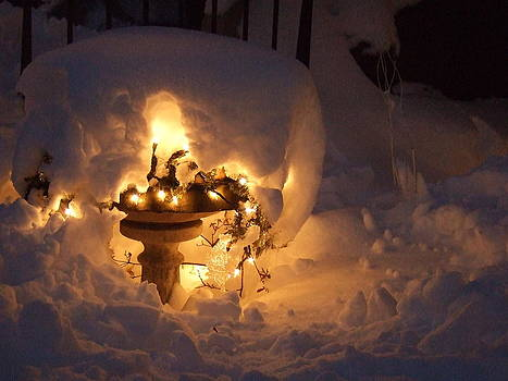 Snowy fountain by Katerina Naumenko