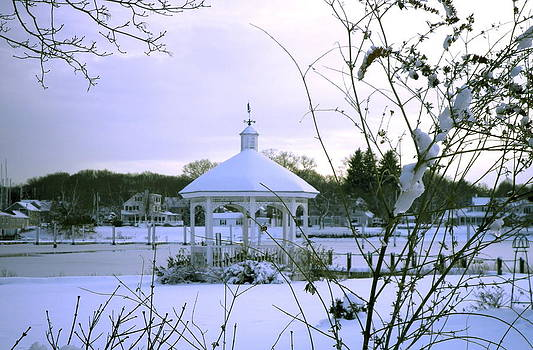 Kate Gallagher - Snowy Gazebo on Wickford Harbor