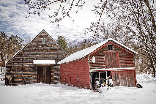 Snowy Morn on the Farm by Ray Summers Photography