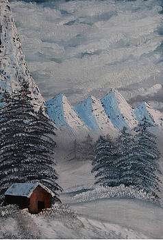Snowy mountains by Peter Kallai