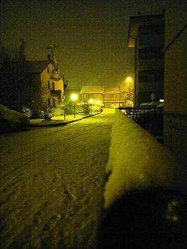 Snowy night by Giuseppe Epifani