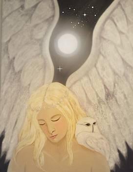 Snowy Owl Angel by Laurel Porter-Gaylord