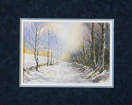 Snowy Path  140103-913WC by Kenneth Shanika