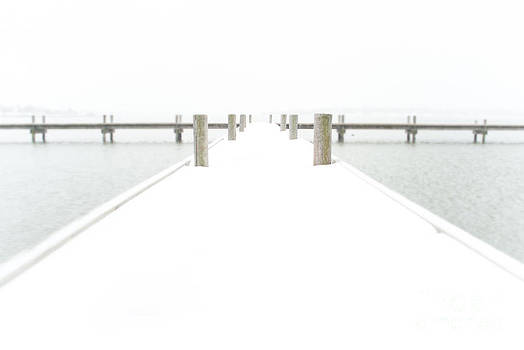 Sonja Quintero - Snowy Pier Winter Photo