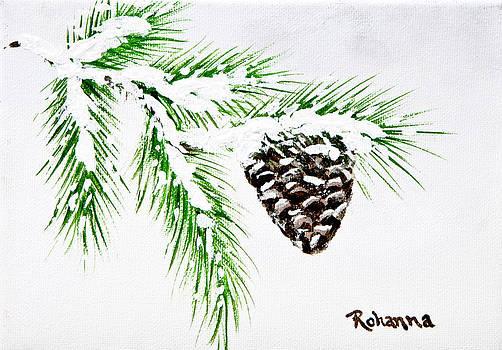 Snowy Pine by Judy M Watts-Rohanna