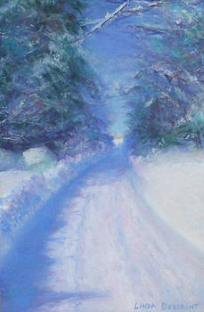 Snowy Road Home by Linda Dessaint
