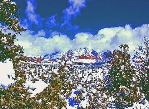Gary Wonning - Snowy Sedona