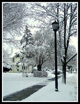 Snowy street by Sherrie Robins