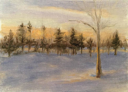 Snowy Sunrise by Katherine Seger