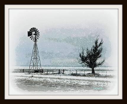 Snowy West Texas Plains by Dale Paul