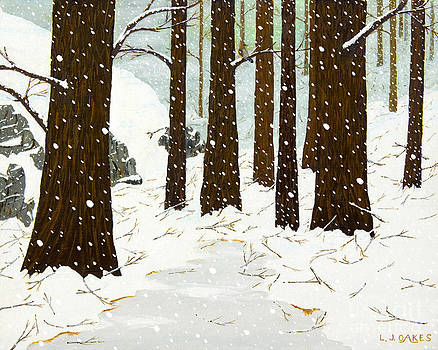 Snowy Woods by L J Oakes