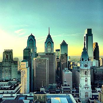 Snuck Up Here For #goldenhour #philly by Dan  Diamond