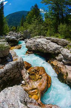 Soca River by Peter Verdnik