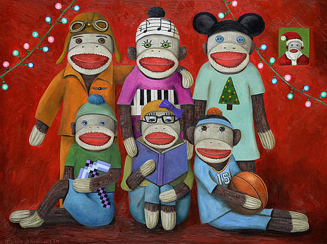 Leah Saulnier The Painting Maniac - Sock Doll Family Portrait
