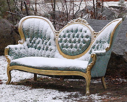 Sofa in the Snow by Beth Johnston