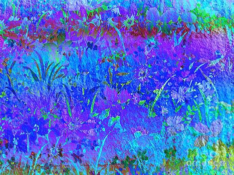 Soft Pastel Floral Abstract by Judy Palkimas