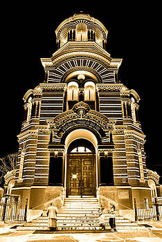 Solar Gold - Nativity of Christ Orthodox Cathedral - Riga - Latvia by David Hill