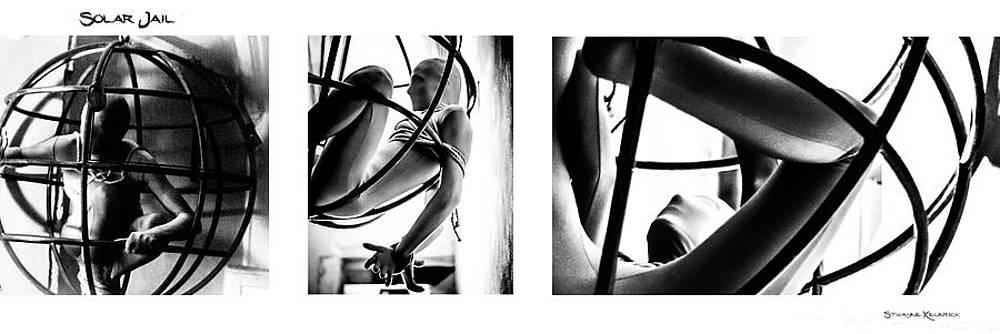 Solar Jail Triptych by Stwayne Keubrick
