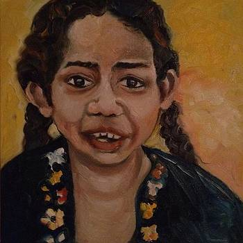 Sold/Children of the World E by Farid  Fakhriddin 30x30 cm