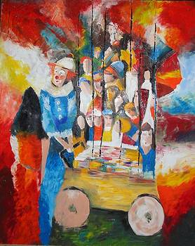 Sold/He's not just a Clown by Farid  Fakhriddin 120x100 cm