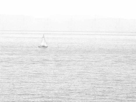Frank Wilson - Solitary Sailboat Lake Tahoe