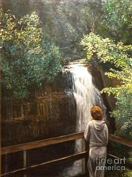 Solitude at Miner Falls by Michael John Cavanagh