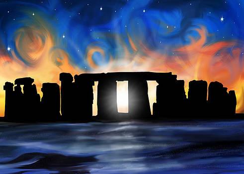 Solstice at Stonehenge  by David Kyte