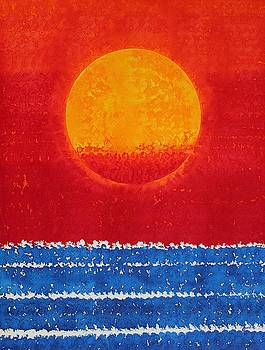 Solstice Sunrise original painting SOLD by Sol Luckman