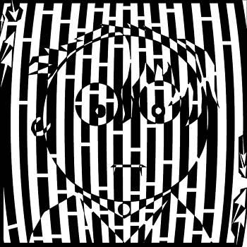 Somber Long Bangs One Earing Maze  by Yonatan Frimer Maze Artist