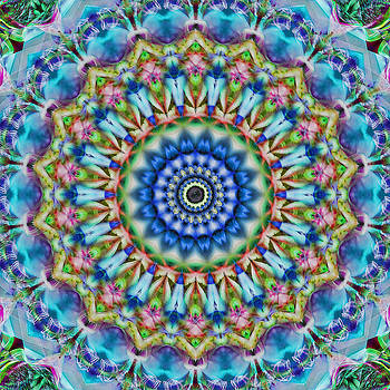 Soothing Blues Mandala by Cindi Ressler
