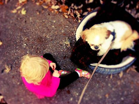 Sophia And Puppy 2 by Emma Sechrest