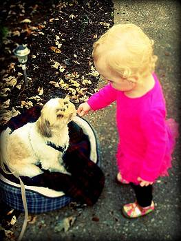 Sophia And Puppy by Emma Sechrest