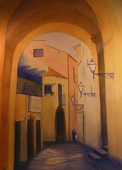 Sorento Scene by Carol Oberg Riley