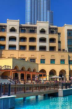 Fototrav Print - Souk Al Bahar with Burj Khalifa