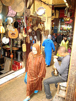 Souk in Fez by Rene Roth