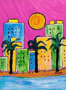 South Beach Sunset by Marlene MALKA Harris