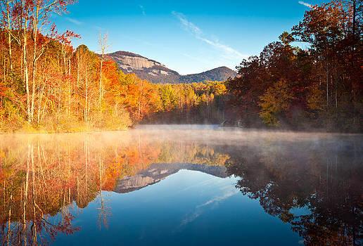 South Carolina Table Rock State Park Autumn Sunrise - Balance by Dave Allen